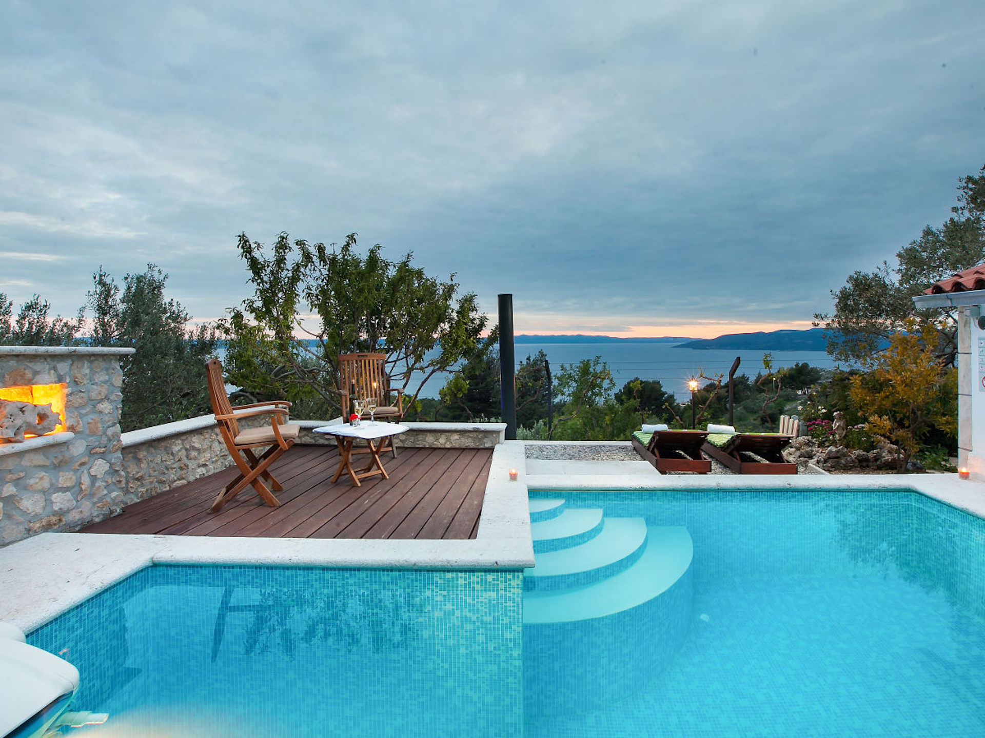 2a ferienhaus dalmatien mit pool villa dalmatia with pool and sea view. Black Bedroom Furniture Sets. Home Design Ideas