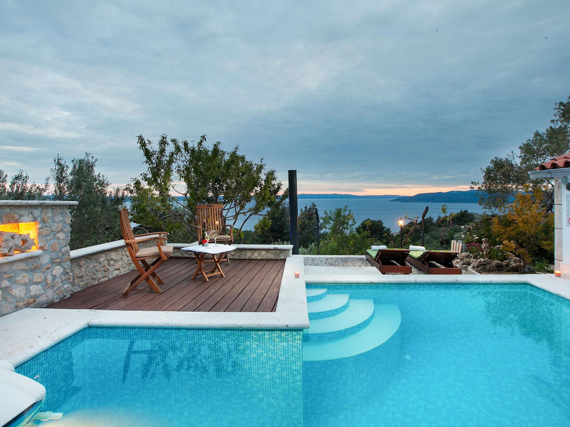 2a ferienhaus dalmatien mit pool villa dalmatia with pool and sea view. Black Bedroom Furniture Sets. Home Design Ideas