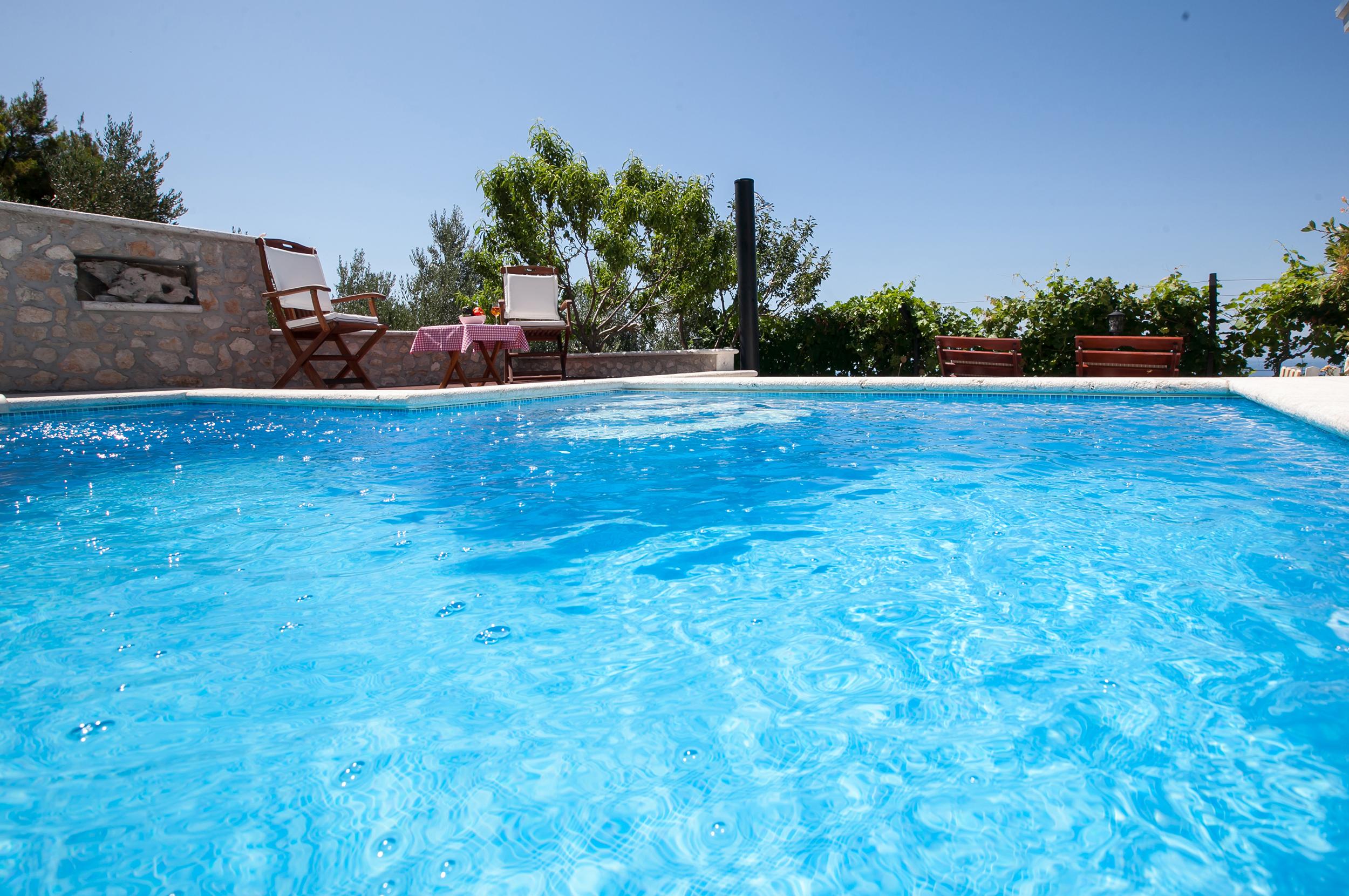 6a ferienhaus dalmatien mit pool villa dalmatia with pool and sea view. Black Bedroom Furniture Sets. Home Design Ideas